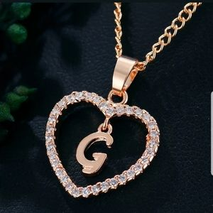 New beautiful gold tone letter G necklace